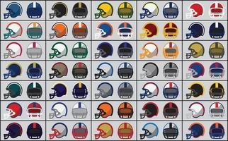 iconos de cascos de fútbol americano vector