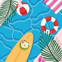 Flat Swimming Background vector