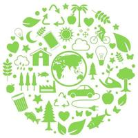 Environment icon in circle vector
