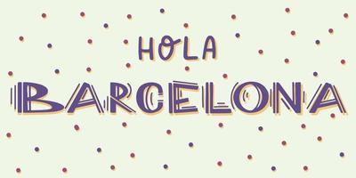 Barcelona nombre de la ciudad manuscrita caligrafía moderna letras a mano vector