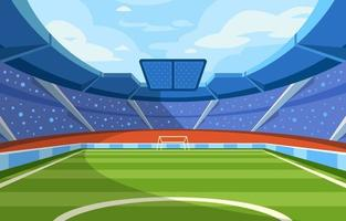 Soccer Stadium Concept vector