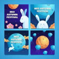 Mid Autumn Festival Card Collection vector