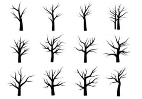 Dead Tree Without Leaves Doodle vector