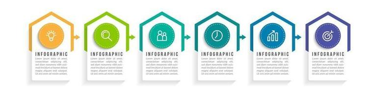 Six Options or Steps Infographic vector