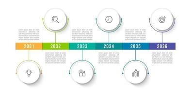 Infographic Template With 6 Main Idea vector