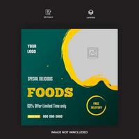 Restaurant Food Banner Post Template Vector