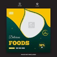 Restaurant banner post template vector for your food services