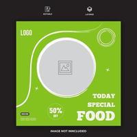 Food Menu And Restaurant Social Media Banner Vector Template