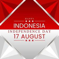 Happy 17 august independence day of indonesia vector