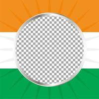 Fondo de publicación de redes sociales indias vector