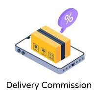 Delivery Commission Fee vector