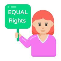 Equal rights Women Protest vector