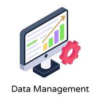 gestión y configuración de datos vector