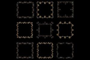 golden decorative frames vector