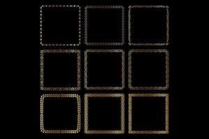 golden frame set vector
