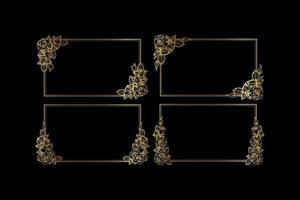 Set of Decorative vintage frames vector