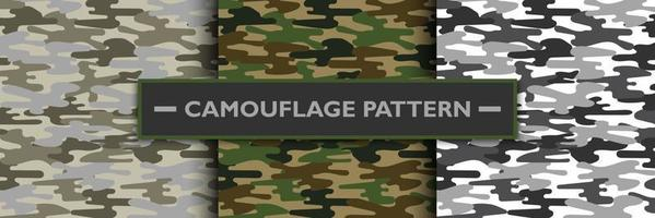 Camouflage military pattern, vector illustration