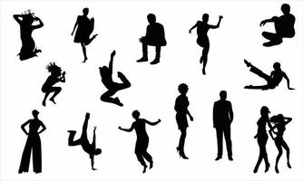people activity silhouette set illustration vector