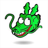 cute dragon cartoon illustration vector
