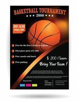 basketball tournament poster vector
