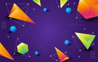 Colourful Abstract Geometric Concept vector