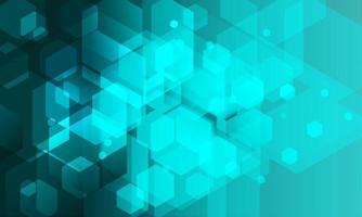 Abstract hexagon background. Technology polygonal design. vector