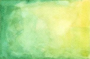 Watercolor pastel green and yellow painted texture. vector
