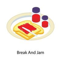 Bread And Jam vector