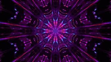 Symmetric Crystal Tunnel with Neon Purple video