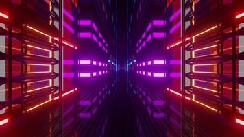 design dinamico al neon con bandiera francese video