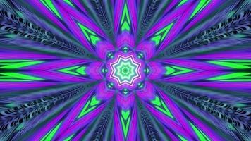 tunnel a forma di stella viola e verde con luci vivide video