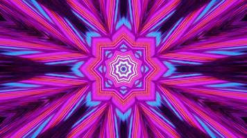 Colorful Bright Pink Geometric Ornament Tunnel video