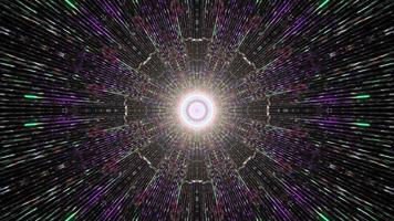 Dynamic Multicolor Tunnel with Bright Illumination video