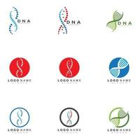DNA logo and symbol template icon vector
