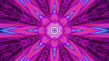tunnel rosa e viola a forma di stella video