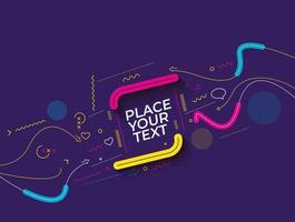 Abstract technological promotion geometric shapes banner vector