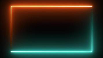 Neon Blue and Orange Border Technology Background video