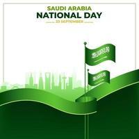 Saudi National Day Concept vector