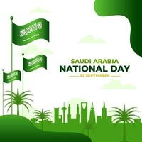 Saudi National Day vector