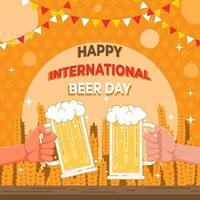 Happy International Beer Day Festival vector