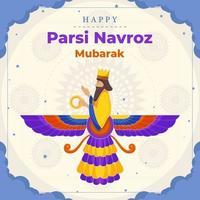 Happy Parsi Navroz Mubarak vector