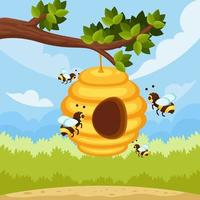Honey Bee Protection Cartoon vector
