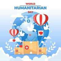 World Humanitarian Day Concept vector