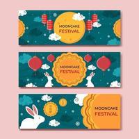 Mooncake Mid Autumn Festival Banner vector