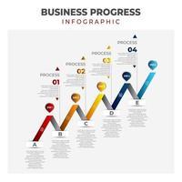 Business Progress Infographic vector