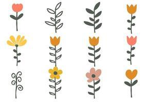 Colorful Plants for Seasonal Decoration vector