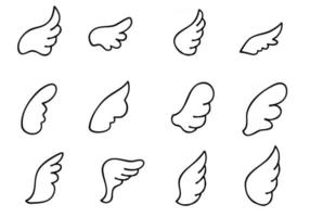 Wings Icon Sketch Collection vector