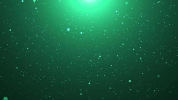 Green Particle Flare Background for Background Concept video