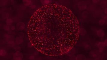 Red Particle Globe Particle Technology Background video