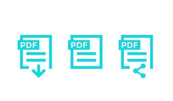 PDF document, download pdf file vector icons